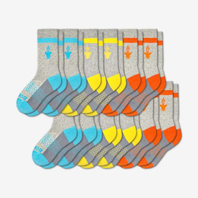cyan-yellow-orange Youth Calf 12-Pack
