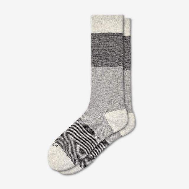dark-grey-and-light-grey Women's Lightweight Crew Sock