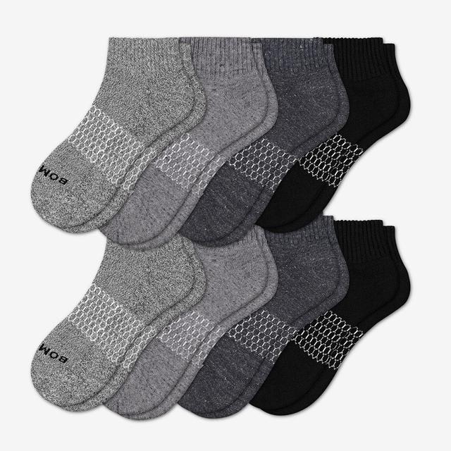 dark-mix Women's Quarter Sock 8-Pack