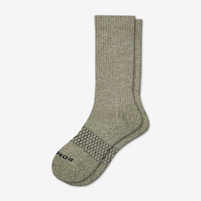 dark-sage-oatmeal Men's Classic Marls Calf Sock