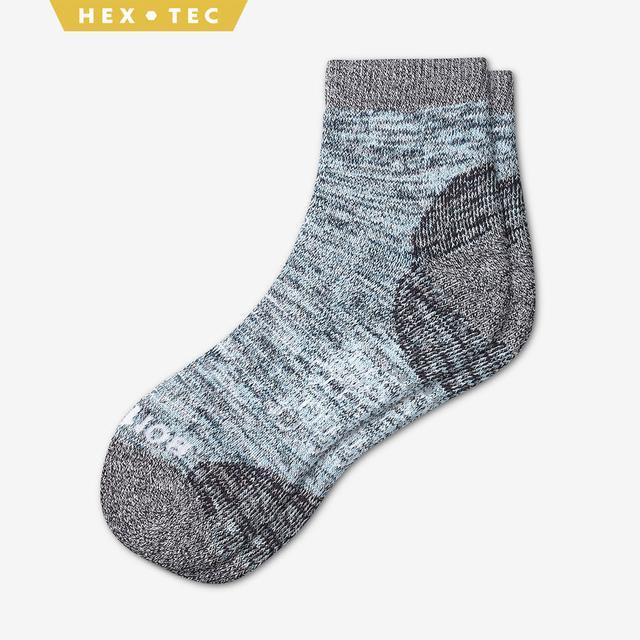 dusty-blue Women's Hiking Quarter Socks