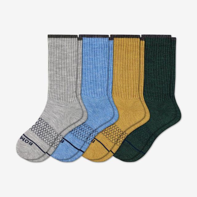 fall-mix-4 Men's Merino Wool Calf Sock 4-Pack