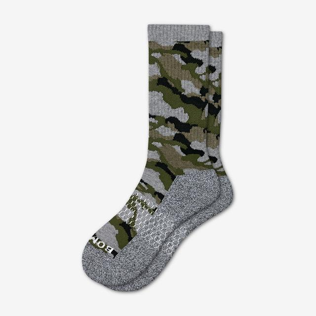 green Men's Camo Calf Socks