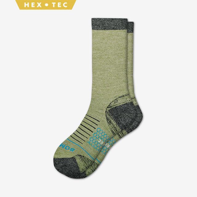 green Men's Performance Merino Hiking Socks