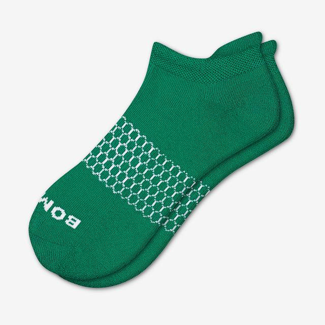 green Men's Solids Ankle Socks