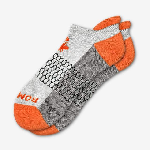 grey-and-blaze-orange Women's Originals Ankle Socks