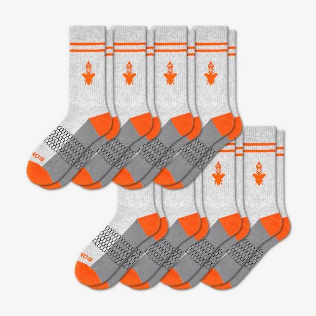 grey-and-blaze-orange Men's Originals Calf 8-Pack