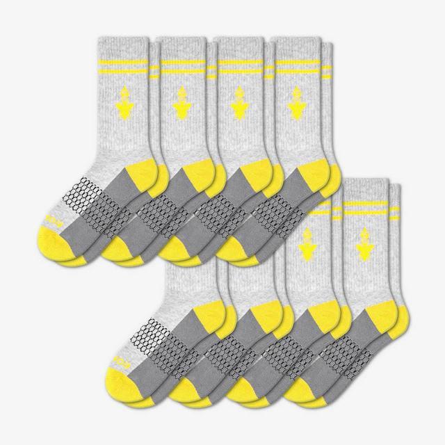 grey-and-canary-yellow Men's Originals Calf 8-Pack