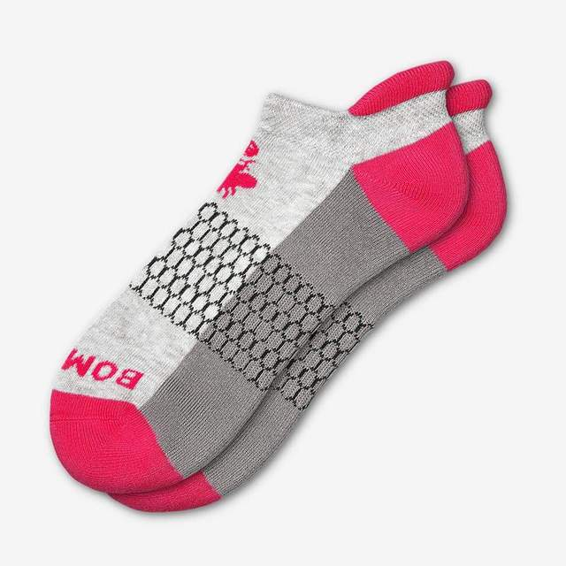 grey-and-hot-pink Women's Originals Ankle Socks
