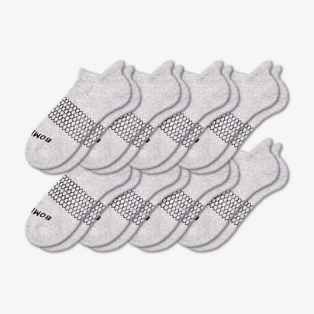 grey Men's Solids Ankle 8-Pack