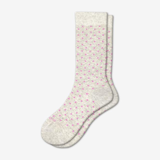 grey-lavender-dot Women's Lightweight Crew Sock