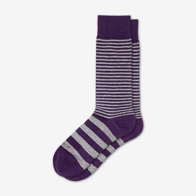 grey-purple Men's Dress Stripes
