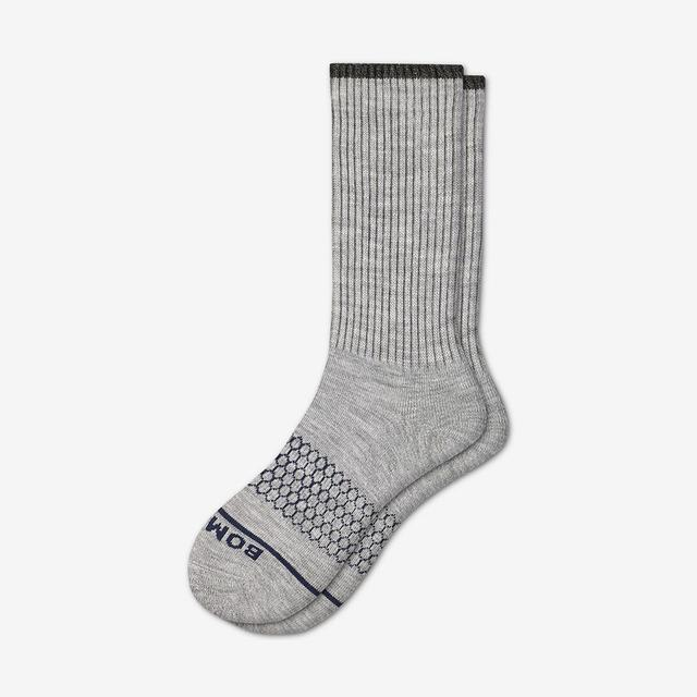 light-grey-heather Women's Merino Wool Calf Socks