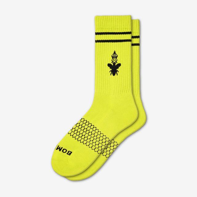 lightning-yellow Men's Solids Calf