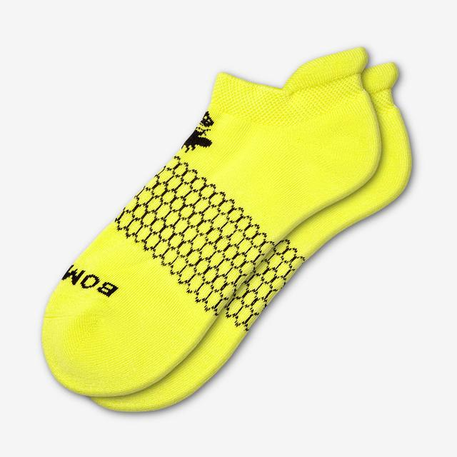 lightning-yellow Men's Solids Ankle Socks