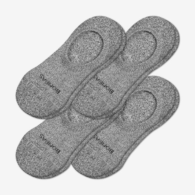 marled-charcoal Women's Cushioned No Shows 4-Pack