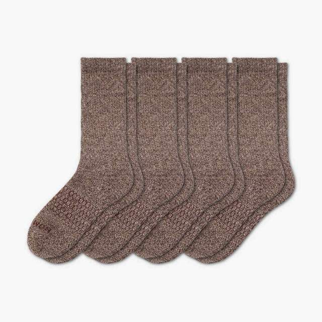 marled-chocolate Women's Classic Marl Calf Sock 4-Pack