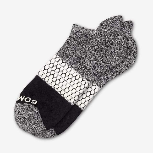 marled-dark-grey-and-cream Men's Tri-Block Ankle Sock