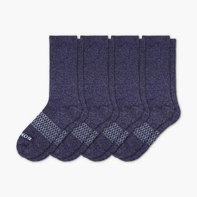 marled-navy Women's Classic Marl Calf Sock 4-Pack