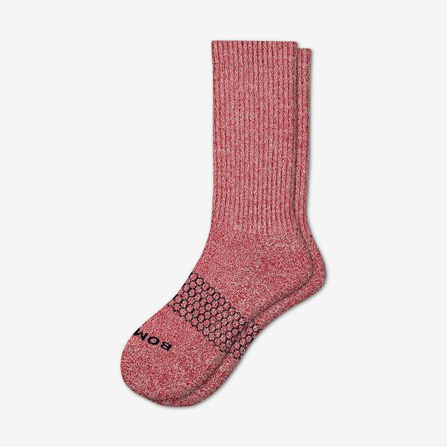 maroon Men's Classic Marls Calf Sock