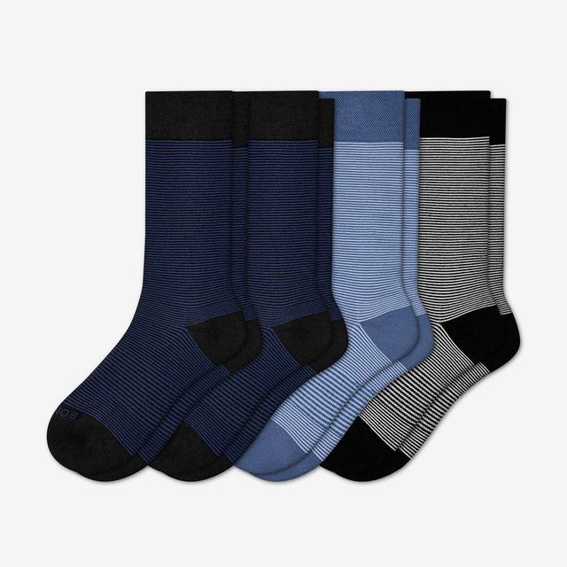 microstripe Men's Mixed Dress Sock 4-Pack