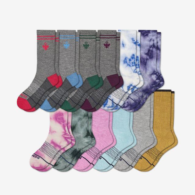 mixed-12 Women's Merino Calf Sock 12-Pack