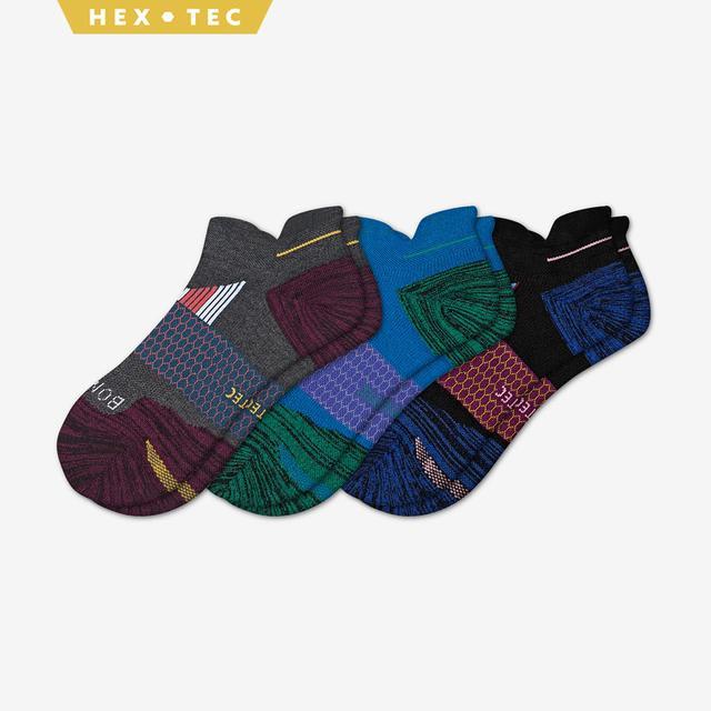 mixed-3 Men's Performance Running Ankle Sock 3-Pack