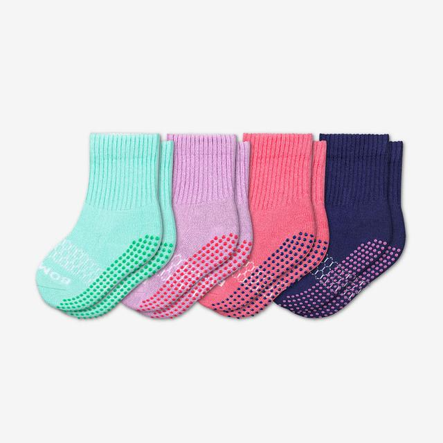 mixed-4 Toddler Gripper Calf Sock 4-Pack