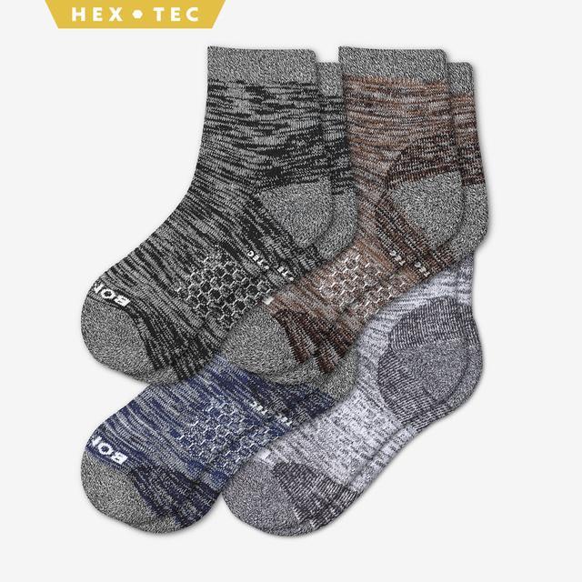 mixed-4 Men's Hiking Quarter Sock 4-Pack
