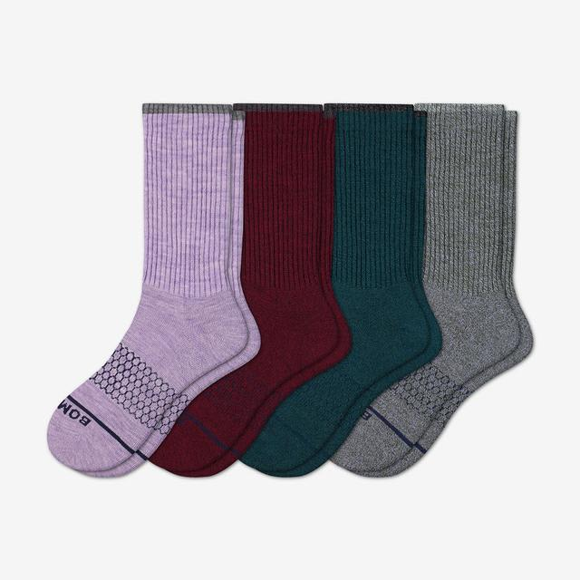 mixed-4 Women's Merino Wool Calf Sock 4-Pack