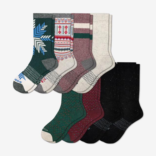 mixed-8 Women's Holiday Calf Sock 8-Pack