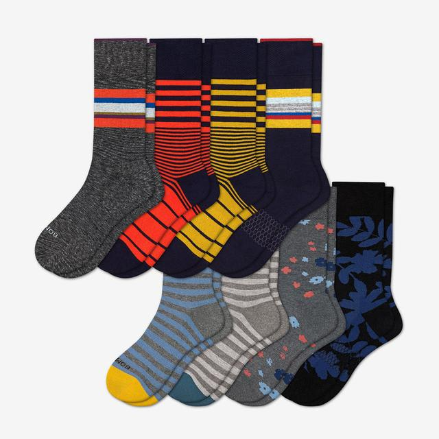 mixed-8 Men's Dress Calf Sock 8-Pack