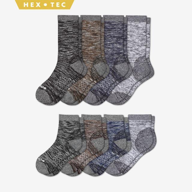 mixed-8 Men's Hiking Calf & Quarter Sock 8-Pack