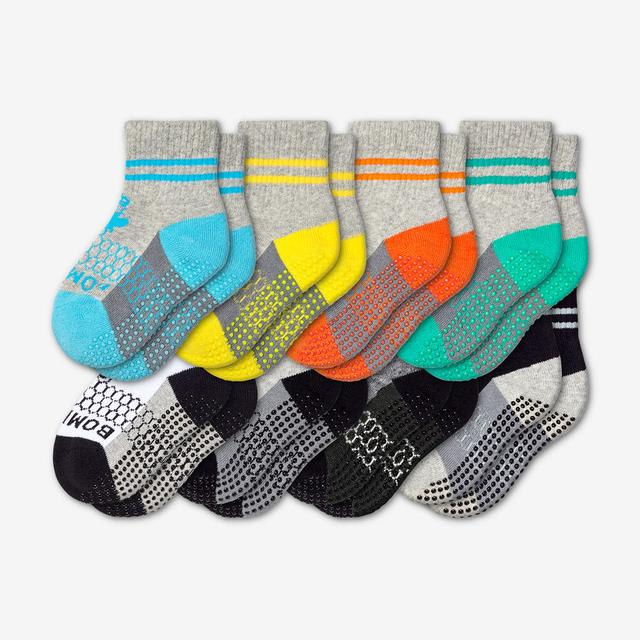 mixed-8 Toddler Gripper Sock 8-Pack