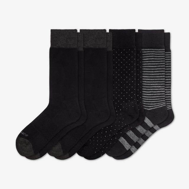 mixed-black Men's Mixed Dress Sock 4-Pack