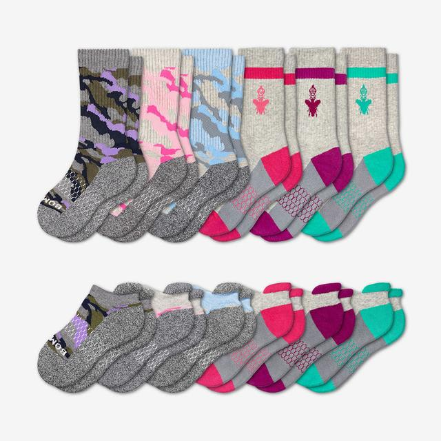 mixed-camo Youth Calf & Ankle 12-Pack
