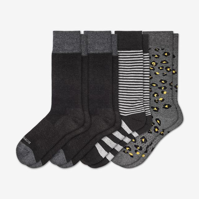 mixed-charcoal Men's Mixed Dress Sock 4-Pack