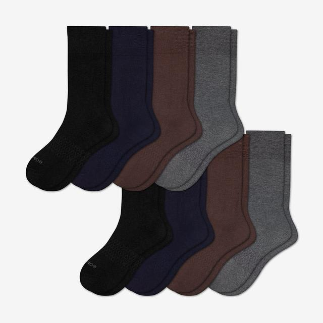 mixed Men's Dress Calf Sock 8-Pack