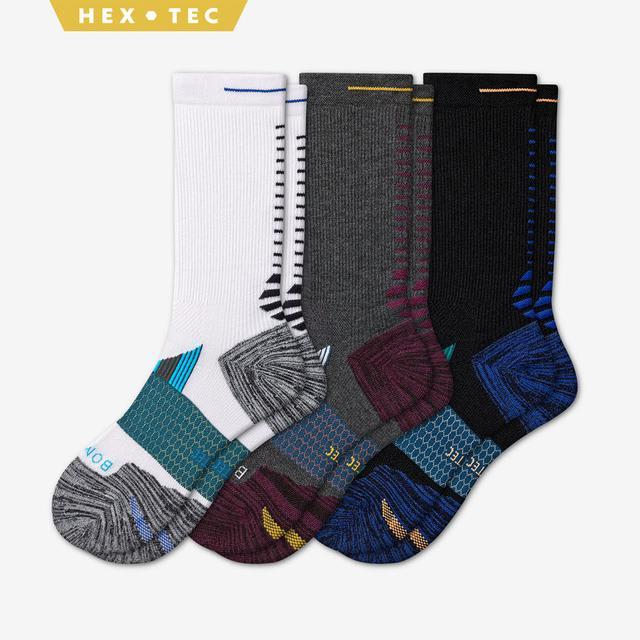 mixed Men's Performance Running Calf Sock 3-Pack
