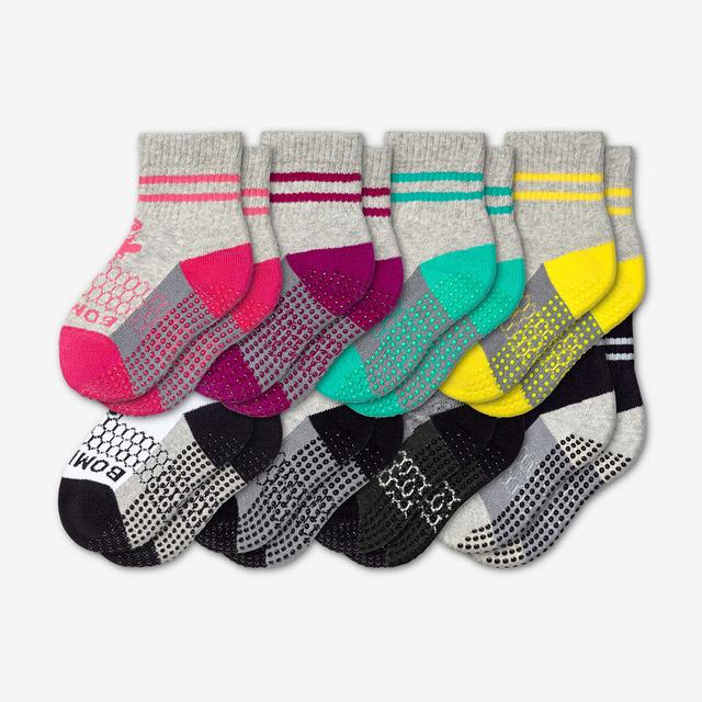mixed Toddler Gripper Sock 8-Pack