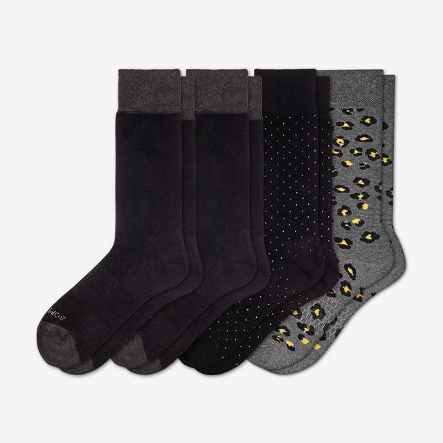 mixed Men's Mixed Dress Over the Calf Sock 4-Pack