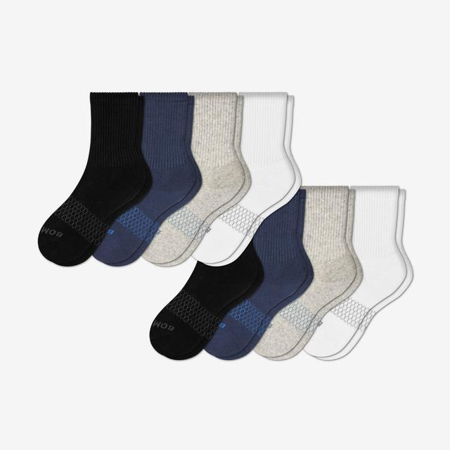 mixed Youth Solid Calf Sock 8-Pack