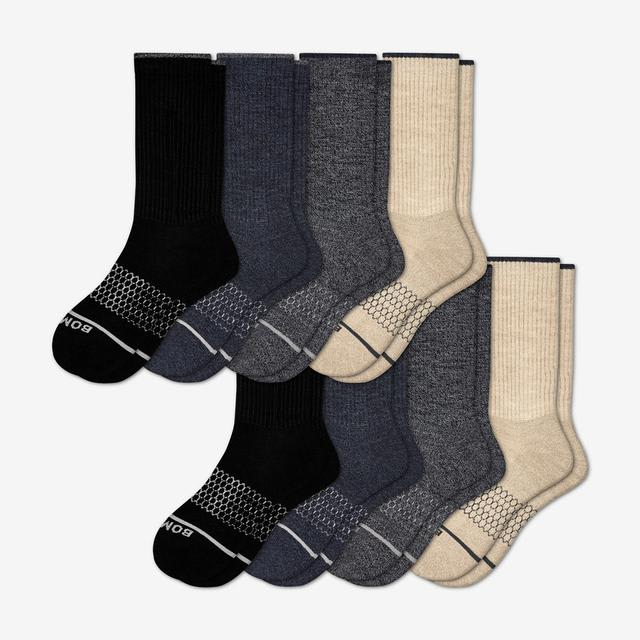 mixed Men's Merino Wool Calf Sock 8-Pack