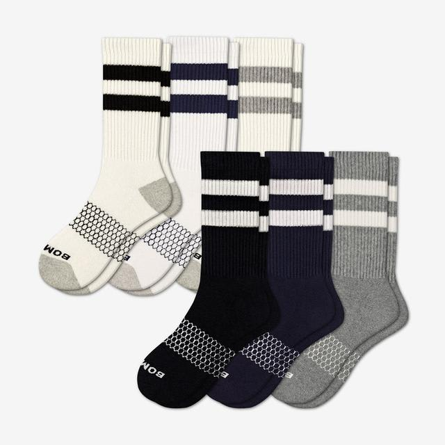 mixed Men's Vintage Stripe Calf Sock 6-Pack