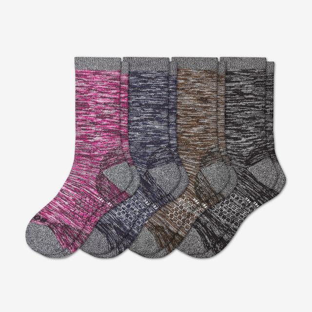 mixed Women's Hiking Calf Sock 4-Pack
