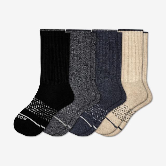 mixed Men's Merino Wool Calf Sock 4-Pack
