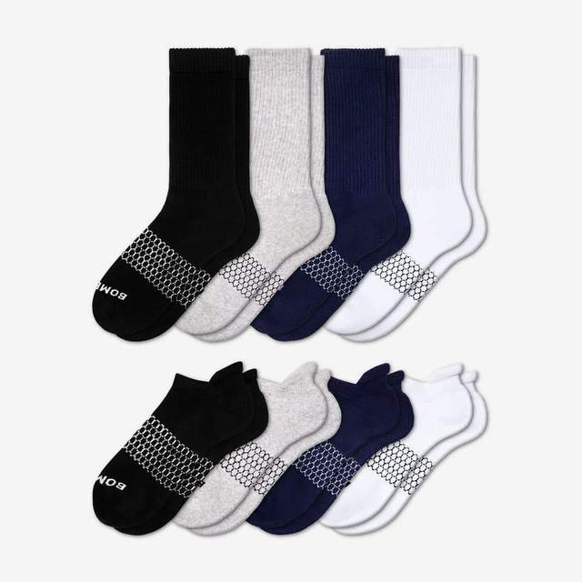 mixed Women's Solids Calf & Ankle 8-Pack