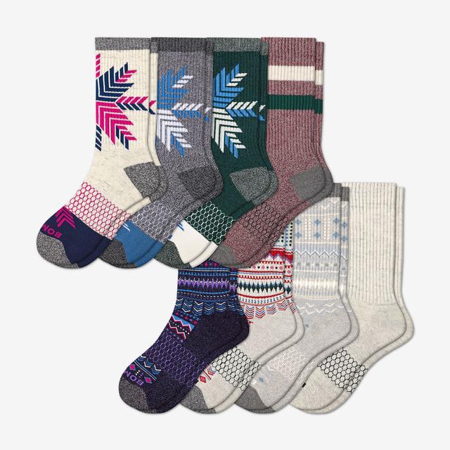 mixed Women's Holiday Calf Sock 8-Pack