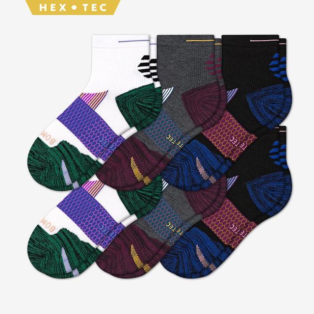 mixed Women's Performance Running Quarter Sock 6-Pack