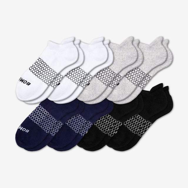 mixed Men's Solids Ankle 8-Pack